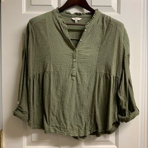 Lucky Brand linen and cotton top